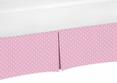 Pink and White Polka Dot Crib Bed Skirt for Skylar�Baby Bedding Sets by Sweet Jojo Designs