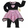 Pink Bandana Hanky Leggings 2pc Outfit or Dress by Sweet Jojo Designs