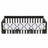 Pink, Black and White Princess Baby Crib Long Rail Guard Cover by Sweet Jojo Designs