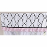 Pink, Black and White Princess Girls Window Valance by Sweet Jojo Designs