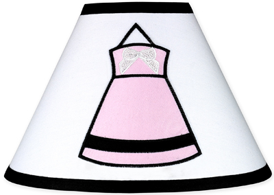 Pink Black And White Princess Lamp Shade By Sweet Jojo Designs Only 10 48