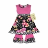 Pink, Black, Floral and Zebra Baby Girls 2pc Set or Dress by Sweet Jojo Designs