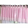 Pink Chenille and Satin Girls Window Valance