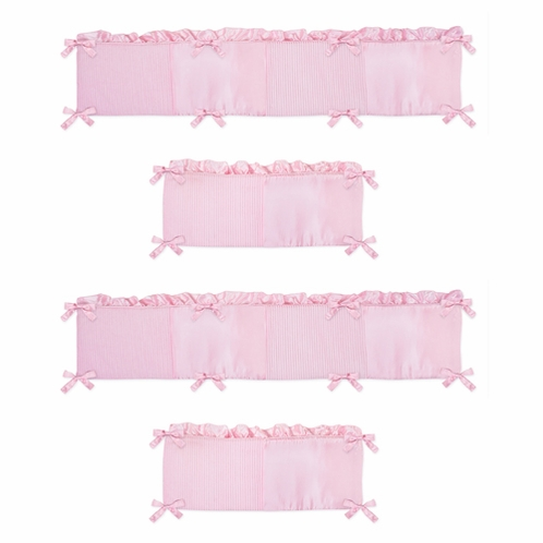 Pink Chenille Collection Crib Bumper by Sweet Jojo Designs - Click to enlarge
