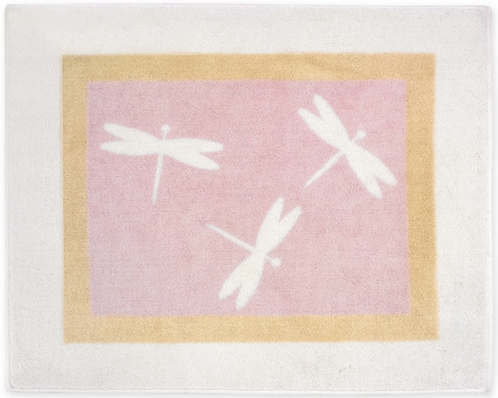 Pink Dragonfly Dreams Accent Floor Rug - Click to enlarge