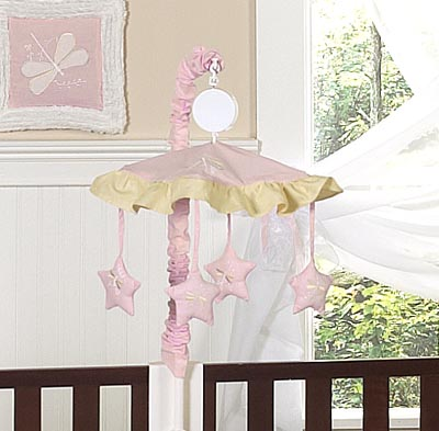 Pink Dragonfly Dreams Musical Crib Mobile - Click to enlarge