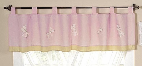 Pink Dragonfly Dreams Window Valance - Click to enlarge