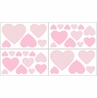 Pink French Toile Baby and Kids Wall Decal Stickers - Set of 4 Sheets