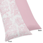 Pink French Toile Full Length Double Zippered Body Pillow Case Cover by Sweet Jojo Designs