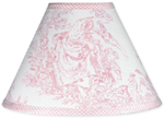 Pink French Toile Lamp Shade