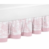 Pink French Toile Queen Bed Skirt by Sweet Jojo Designs