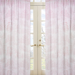 Pink French Toile Window Treatment Panels - Set of 2