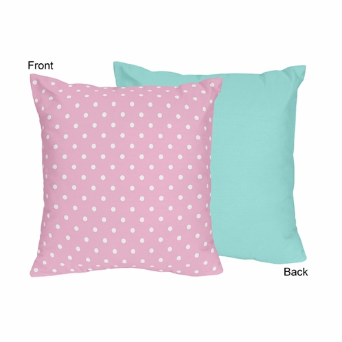Pink and Turquoise Skylar Decorative Accent Throw Pillow by Sweet Jojo Designs - Click to enlarge