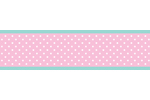 Pink, Gray and Turquoise Skylar Childrens and Kids Modern Wall Paper Border