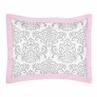 Pink, Gray and White Elizabeth Pillow Sham by Sweet Jojo Designs