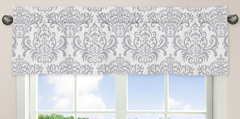 Pink, Gray and White Elizabeth�Window Valance by Sweet Jojo Designs