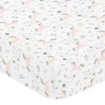 Pink, Grey and Gold Baby or Toddler Fitted Crib Sheet for Unicorn Collection by Sweet Jojo Designs