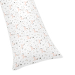 Pink, Grey and Gold Body Pillow Case Cover for Unicorn Collection by Sweet Jojo Designs (Pillow Not Included)