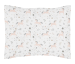 Pink, Grey and Gold Standard Pillow Sham for Unicorn Collection by Sweet Jojo Designs