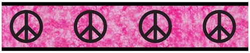 Pink Groovy Peace Sign Tie Dye Kids and Teens Wall Paper Border by Sweet Jojo Designs - Click to enlarge