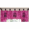 Pink Groovy Peace Sign Tie Dye Window Valance by Sweet Jojo Designs