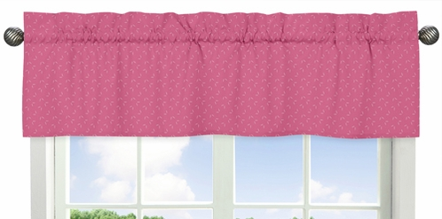 Hatch Print Window Valance for Pink Happy Owl Collection by Sweet Jojo Designs - Click to enlarge