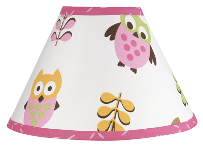 Pink happy owl lamp shade by sweet jojo designs only 2799 aloadofball Choice Image