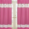Pink Happy Owl Window Treatment Panels by Sweet Jojo Designs - Set of 2
