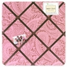 Pink Paisley Fabric Memory/Memo Photo Bulletin Board