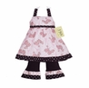 Pink Paris Poodle & Polka Dot Boutique Baby Girls 2pc Outfit or Dress