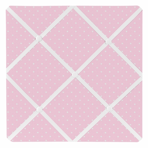 Pink Polka Dot Fabric Memory/Memo Photo Bulletin Board for Mod Dots Collection by Sweet Jojo Designs - Click to enlarge