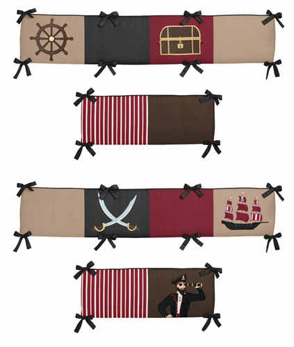 Pirate Treasure Cove Collection Crib Bumper by Sweet Jojo Designs - Click to enlarge