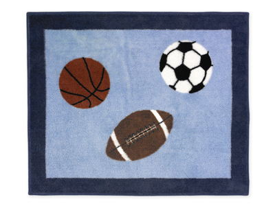 Playball Sports Accent Floor Rug - Click to enlarge