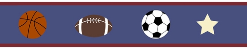 Playball Sports Baby and Kids Wall Border by Sweet Jojo Designs - Click to enlarge