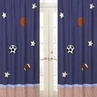 Playball Sports Window Treatment Panels - Set of 2