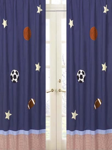 Playball Sports Window Treatment Panels - Set of 2 - Click to enlarge
