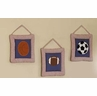 Playball Wall Hangings Art Decor 3 Piece Set
