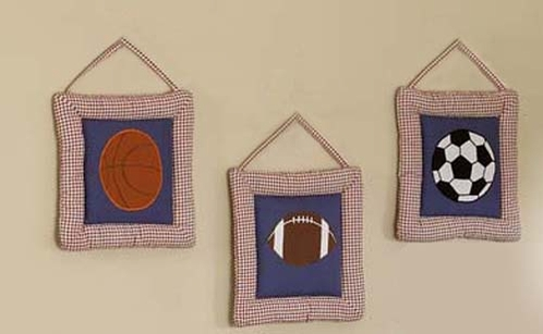 Playball Wall Hangings Art Decor 3 Piece Set - Click to enlarge