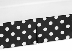 Polka Dot Crib Bed Skirt for Hot Dot Bedding Sets