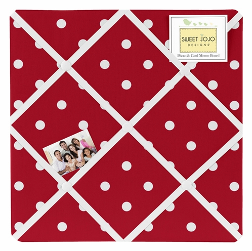 Polka Dot Fabric Memory/Memo Photo Bulletin Board For Ladybug Collection by Sweet Jojo Designs - Click to enlarge