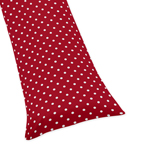 Polka Dot Full Length Double Zippered Body Pillow Case Cover for Sweet Jojo Designs Ladybug Sets