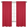 Polka Dot Window Treatment Panels Red and White Ladybug Collection by Sweet Jojo Designs - Set of 2