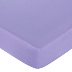 Pretty Pony Fitted Crib Sheet for Baby and Toddler Bedding Sets by Sweet Jojo Designs - Solid Purple