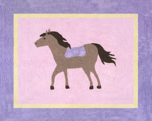 Pretty Pony Horse Accent Floor Rug - Click to enlarge