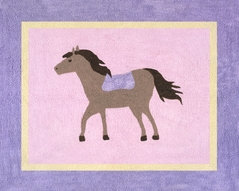 Pretty Pony Horse Accent Floor Rug