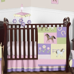 Pretty Pony Horse Baby Bedding - 11pc Crib Set