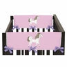 Pretty Pony Horse Baby Crib Side Rail Guard Covers by Sweet Jojo Designs - Set of 2