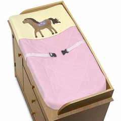 Pretty Pony Horse Baby Girls Changing Pad Cover by Sweet Jojo Designs