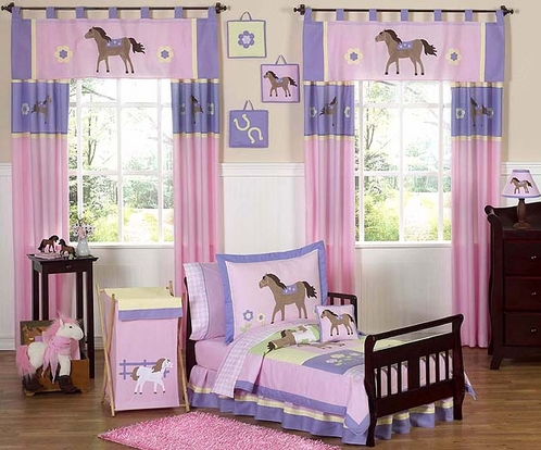 Pretty Pony Horse Toddler Bedding - 5 pc Set - Click to enlarge