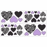 Purple and Black Kaylee Baby, Childrens and Teens Wall Decal Stickers by Sweet Jojo Designs - Set of 4 Sheets